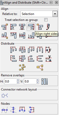 Align and Distribute in Inkscape