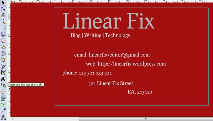 Text on a Business Card mockup