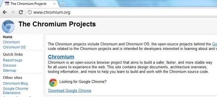 Tabs in Chromium by Google.