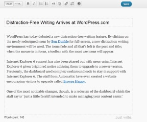 Distraction-Free Writing on WordPress