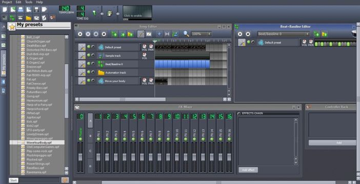 LMMS - Linux MultiMedia Studio Interface