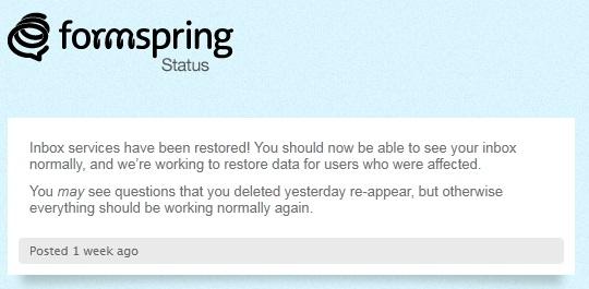 Formspring Status