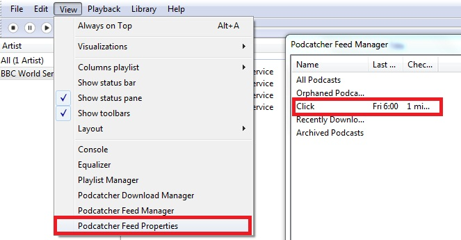 Podcatcher Feed Properties