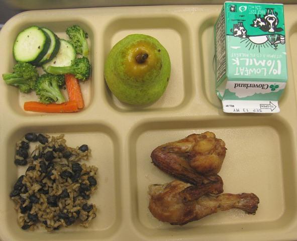 School Cafeteria Chicken