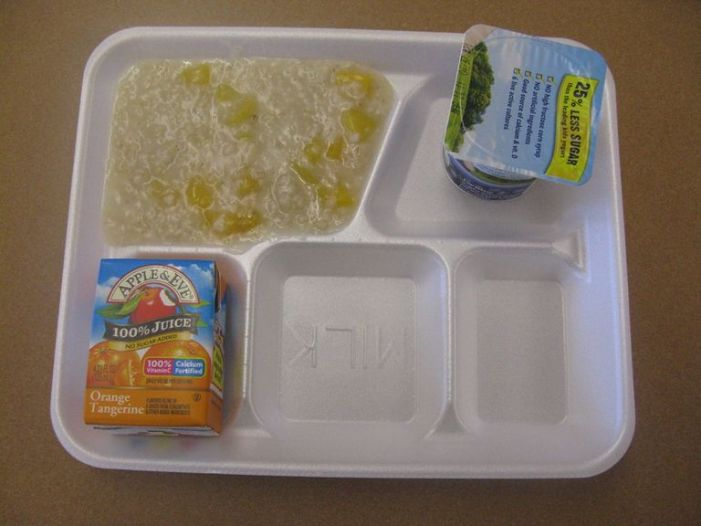 School Cafeteria Oatmeal in Washington DC