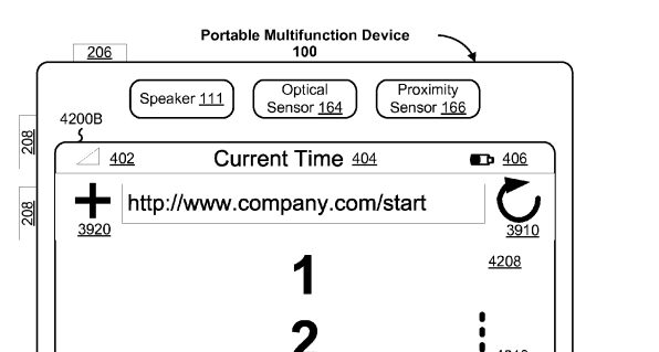 Figure 5B from Apple's iPhone Touch technology patent
