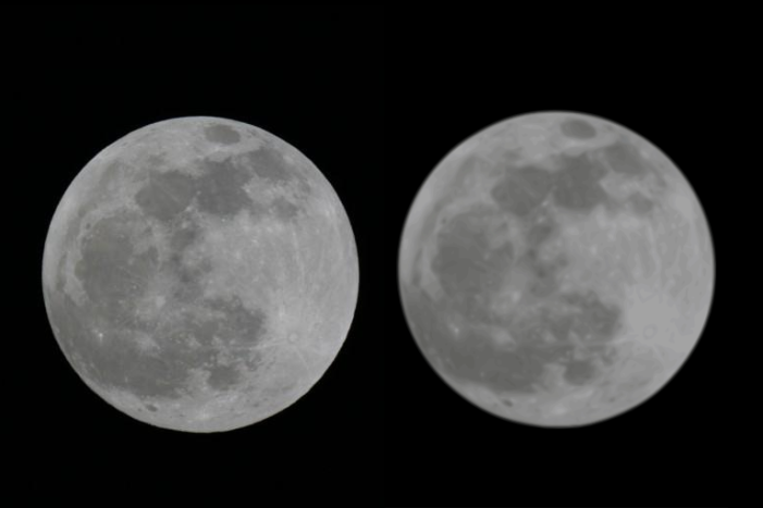 Comparing Moon vectorization using original and SVG