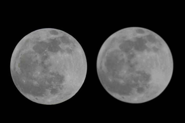 Comparing Moon vectorization using original and SVG