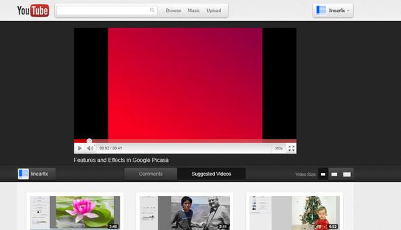 New YouTube 'Cosmic Panda' UI with Video
