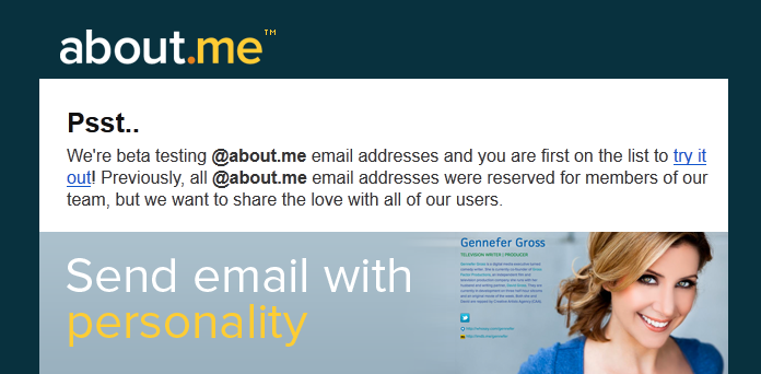 About.me Email