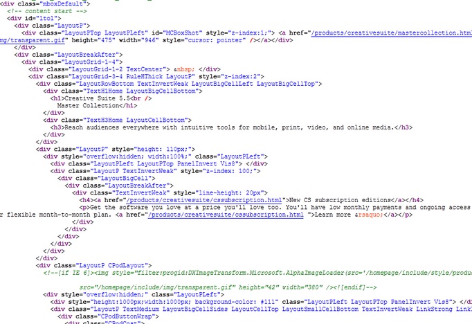 Adobe Muse code