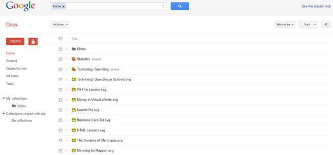 New Google Docs Look